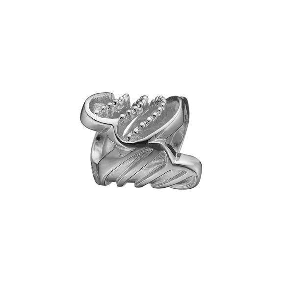 Twist of Joy Bead Charm Silver