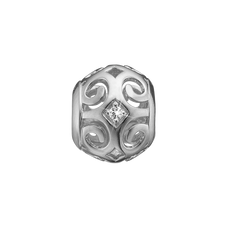 Load image into Gallery viewer, Strength Bead Charm Silver with Gemstones