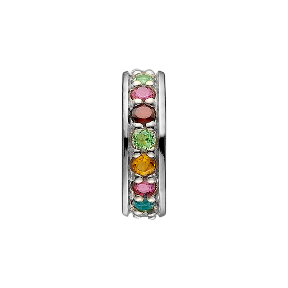 Remind yourself and be proud of your various life goals and ambitions with the Multi Coloured Rainbow of Gemstones that adorn Christina Life Goals charm. All the charms in our collection are handcrafted in 925 Sterling Silver and finished with an 18ct Gold Plating and this charm is further embellished with multiple Genuine Rhodolite, Madeira Citrin, Peridot, Garnet, Swiss Blue Topaz, Citrin, London Blue Topaz Stones