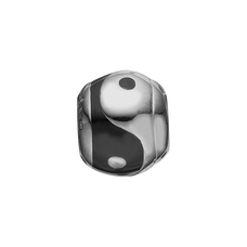 Load image into Gallery viewer, Ying & Yang Bead Charm Silver