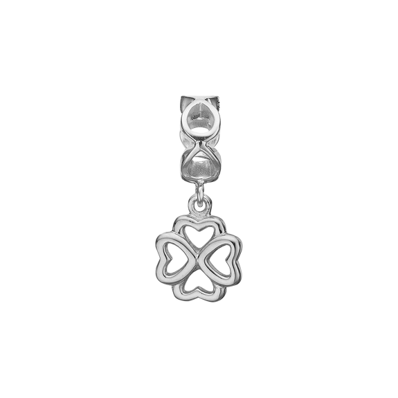 Moving Foursome Hanging Charm Silver