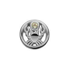 Load image into Gallery viewer, Zodiac Cancer Bead Charm Silver with Gemstones