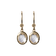 Load image into Gallery viewer, Crystal Dream Hanging Earrings Gold with Gemstones