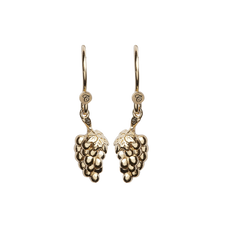 Load image into Gallery viewer, Grapes Hanging Earrings Gold