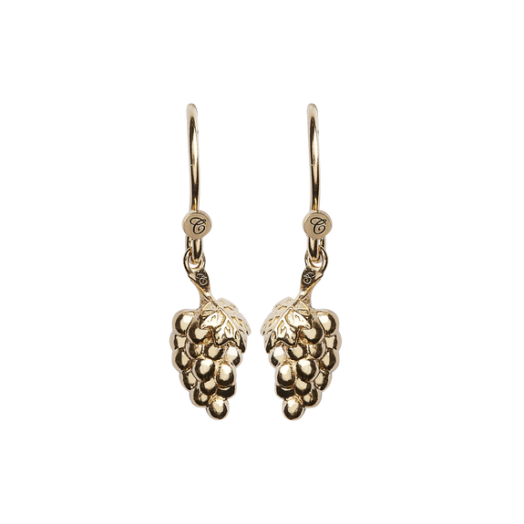 Grapes Hanging Earrings Gold