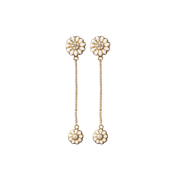 Flying Marguerites Hanging Earrings Gold