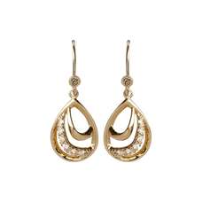 Load image into Gallery viewer, Beauty Hanging Earrings Gold with Gemstones