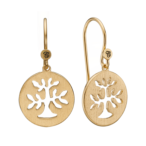 In mythologies, legends and novels Trees represent life & growth while at the same time considered representative of life, wisdom, power and prosperity.  These Plant a Tree earrings are handcrafted in Sterling Silver and finished with an 18ct Gold Plating are designed to incorporate these noble sentiments.