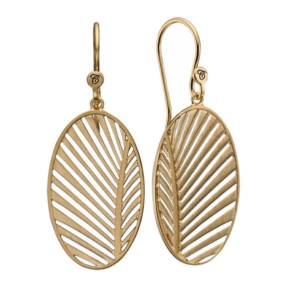 Celebrate your unique awesomeness and positive energy with this beautifully designed earrings in the shape of a Palm Leaf that across eons and cultures has symbolised victory with integrity.  For that special touch all the pieces in our Jewellery Collection are delicately handcrafted in 925 Sterling Silver and finished with an 18ct Gold Plating.