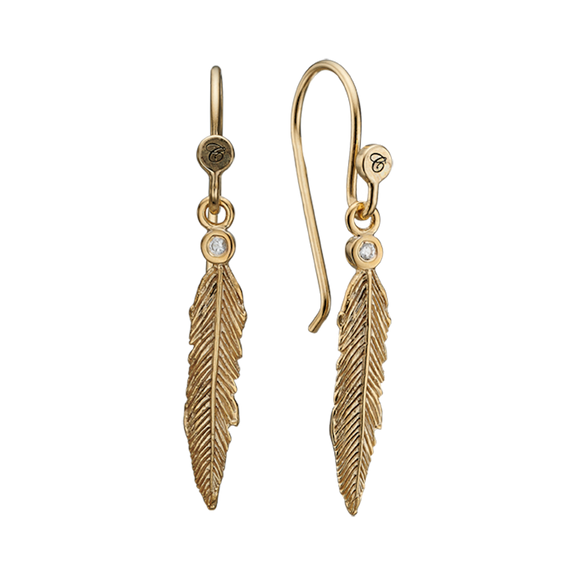 The Feather Symphony Earrings catch the Autumn feeling that only comes during this magical time of the year as the leaves detach from the tree and float and swing in the breeze.  For that special touch and to make our Earring Collection even more special, all the earrings in our collection are delicately and expertly handcrafted in 925 Sterling Silver and finished with 18ct Gold Plating.