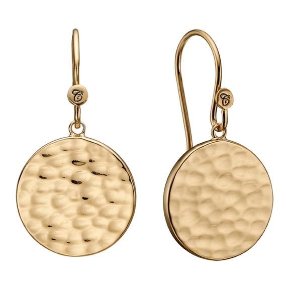 Nothing expresses the feeling of peaceful existence than the humble but yet simple grace of the Moon and its Lunar scape, glimmering from the reflection of the natural light.  These beautifully handcrafted earrings incorporate all that sentiment and will glisten in the sunlight just like the Moon.   For that special touch and to make your ring a bit more special all the rings in our collection are delicately and expertly handcrafted in 925 Sterling Silver and finished with an 18ct GoldPlating.