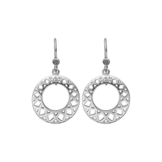 Load image into Gallery viewer, Circles of Happiness Hanging Earrings Silver