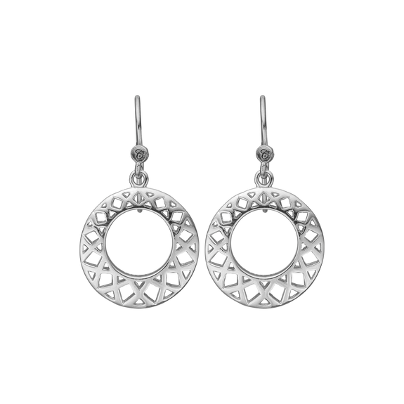 Circles of Happiness Hanging Earrings Silver