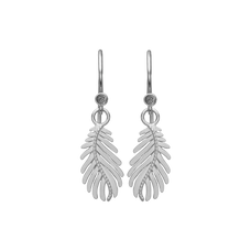 Load image into Gallery viewer, Pine Leaf Hanging Earrings Silver