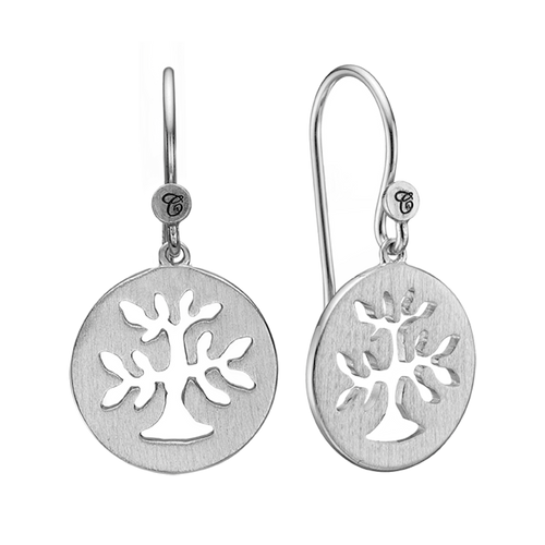 In mythologies, legends and novels Trees represent life & growth while at the same time considered representative of life, wisdom, power and prosperity.  These Plant a Tree earrings are handcrafted in Sterling Silver and finished with a Rhodium Plating are designed to incorporate these noble sentiments.