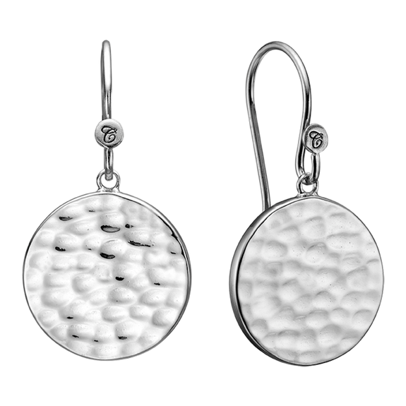 Nothing expresses the feeling of peaceful existence than the humble but yet simple grace of the Moon and its Lunar scape, glimmering from the reflection of the natural light.  These beautifully handcrafted earrings incorporate all that sentiment and will glisten in the sunlight just like the Moon.   For that special touch and to make your ring a bit more special all the rings in our collection are delicately and expertly handcrafted in 925 Sterling Silver and finished with a Rhodium Plating.