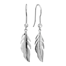 Load image into Gallery viewer, Whenever you think of Nature you thoughts are drawn to green leafy trees. The Leafs that flutter in the breeze with the feeling of freedom that only nature can provide.  For that special touch and to make our Earring Collection even more special, all the earrings in our collection are delicately and expertly handcrafted in 925 Sterling Silver and finished with Rhodium Plating.