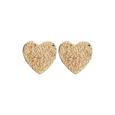 Load image into Gallery viewer, Sparkling Hearts Studs Gold