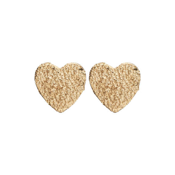 Sparkling Hearts Studs Gold