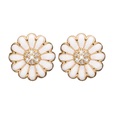 Load image into Gallery viewer, Daisy Stud Earrings with  Genuine Topaz Gemstones