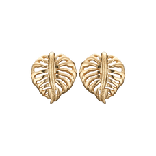 Load image into Gallery viewer, Sparkling Palm Studs Gold