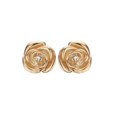 Load image into Gallery viewer, Roses Of Love Studs Gold with Gemstones