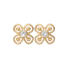 Load image into Gallery viewer, Unity & Harmony Studs Gold with Gemstones