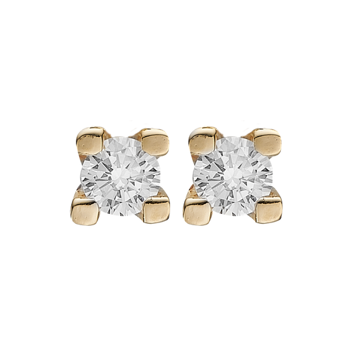 Small DiamondÊ Studs Gold with Gemstones