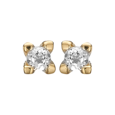 Load image into Gallery viewer, Diamond Studs Gold with Gemstones