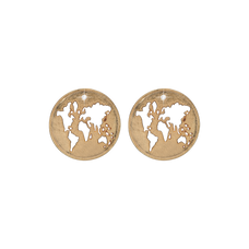 Load image into Gallery viewer, The World Studs Gold with Gemstones