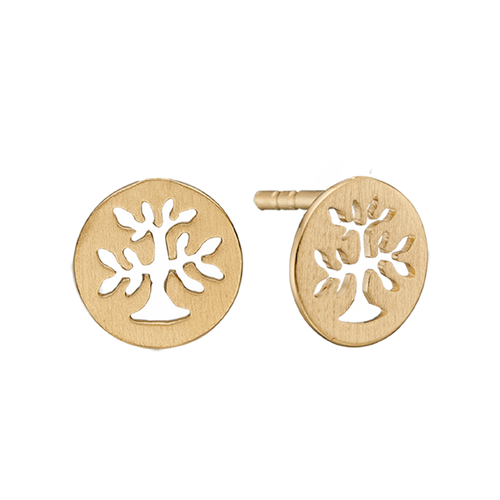 In mythologies, legends and novels Trees represent life & growth while at the same time considered representative of life, wisdom, power and prosperity.  These Plant a Tree stud earrings handcrafted in Sterling Silver and finished in 18ct Gold or Rhodium Plating are designed to incorporate these noble sentiments.