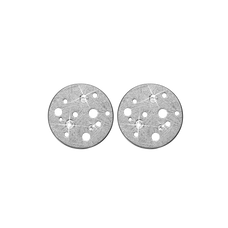 Load image into Gallery viewer, Moon Studs Silver with Gemstones