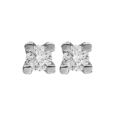 Load image into Gallery viewer, Small Diamond Studs Silver with Gemstones