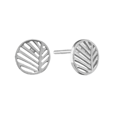 Load image into Gallery viewer, Across eons and cultures, palm leaves symbolised victory with integrity, a meaning reinforced when we look skyward to see the leaves catch the wind.  For that special touch all the pieces in our Jewellery Collection is delicately handcrafted in 925 Sterling Silver and finished a Rhodium Plating.