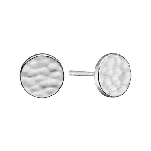 Nothing expresses the feeling of peaceful existence than the humble but yet simple grace of the Moon and its Lunar scape.  Reflecting and glimmering from the reflection of the natural light.  This beautifully handcrafted ring incorporates all that sentiment and will glisten in the sunlight just like the Moon. the Moonscape Stud earrings are handcrafted in 925 Sterling Silver and finished with an 18ct Gold or Rhodium Plated