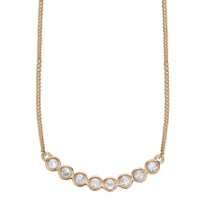 Load image into Gallery viewer, Christina Jewelry Simplicity Necklace with the pronounced beauty of the Eight White Topaz REAL Gemstones is the essence of Simple beauty.