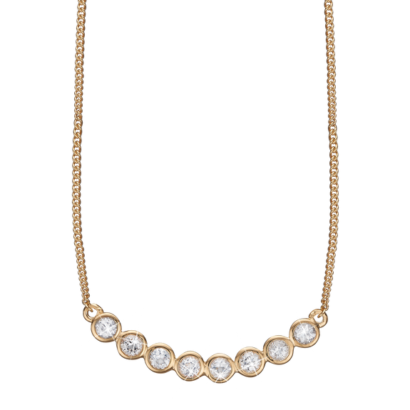 Christina Jewelry Simplicity Necklace with the pronounced beauty of the Eight White Topaz REAL Gemstones is the essence of Simple beauty.