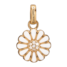 Load image into Gallery viewer, Marguerite Pendant Gold and White with Gemstones