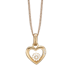 Load image into Gallery viewer, Marguerite Love Necklace Gold with Gemstones