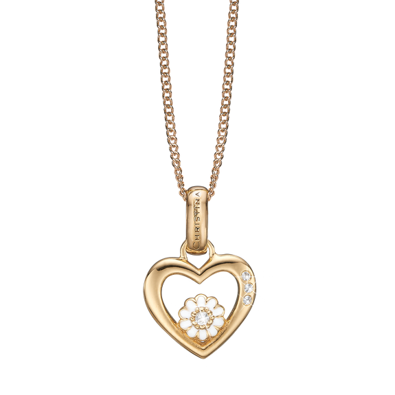 Marguerite Love Necklace Gold with Gemstones