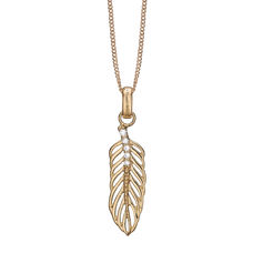 Load image into Gallery viewer, Large Topaz Feather Necklace Gold with Gemstones