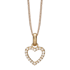 Load image into Gallery viewer, Topaz Heart Necklace Gold with Gemstones