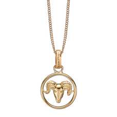 Load image into Gallery viewer, Zodiac Aries Necklace Gold