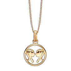 Load image into Gallery viewer, Zodiac Gemini Necklace Gold