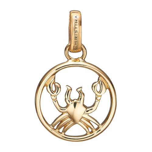 Zodiac Cancer Pendant Gold