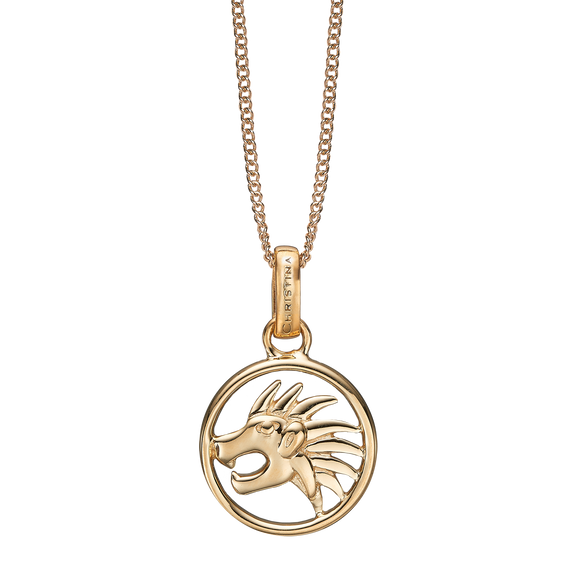 Zodiac Leo Necklace Gold