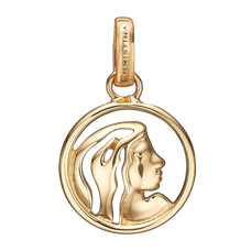 Load image into Gallery viewer, Zodiac Virgo Pendant Gold