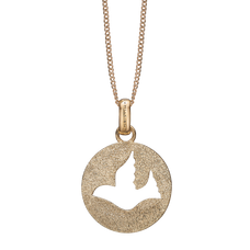 Load image into Gallery viewer, Dove of Peace Necklace Gold with Gemstones