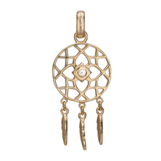 Load image into Gallery viewer, Dream Catcher Pendant Gold with Gemstones