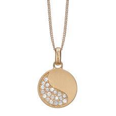 Load image into Gallery viewer, Moon Shine Necklace Gold with Gemstones